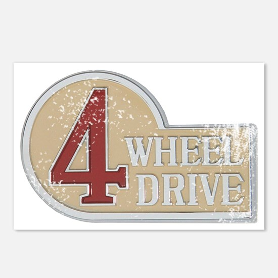 4wd emblem - faded Postcards (Package of 8)