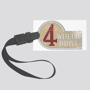 4wd emblem - faded Large Luggage Tag