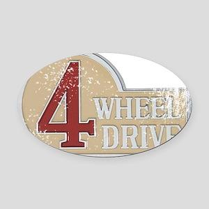 4wd emblem - faded Oval Car Magnet