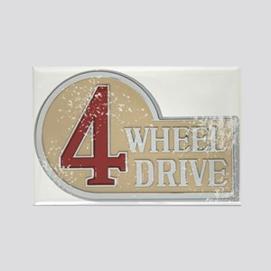 4wd emblem - faded Rectangle Magnet