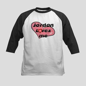 jordon loves me Kids Baseball Jersey