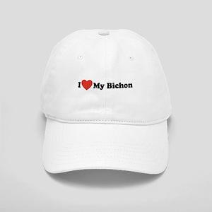 I Love My Bichon - Dog Bone Cap