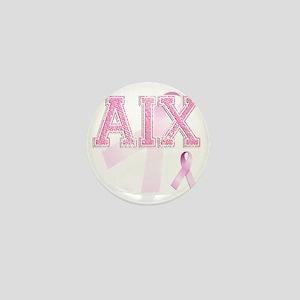 AIX initials, Pink Ribbon, Mini Button