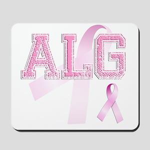ALG initials, Pink Ribbon, Mousepad