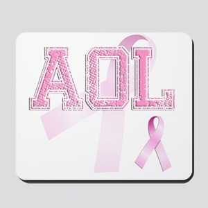 AOL initials, Pink Ribbon, Mousepad