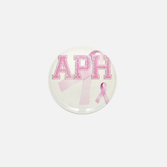 APH initials, Pink Ribbon, Mini Button