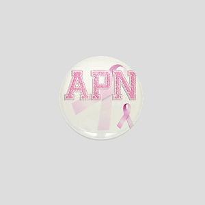 APN initials, Pink Ribbon, Mini Button