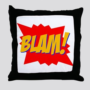 Blam! Throw Pillow