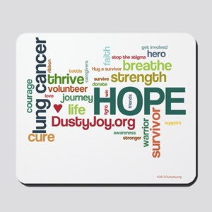 Lung Cancer Word Art (lt) Mousepad