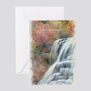Watercolor Inspirational Poster: Suc Greeting Card