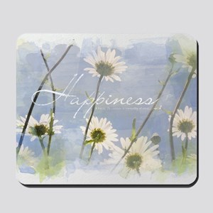 Watercolor Inspirational Poster: A Happy Mousepad