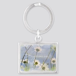 Watercolor Inspirational Poster Landscape Keychain