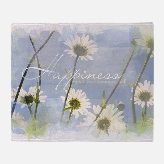 Watercolor Inspirational Poster: A H Throw Blanket