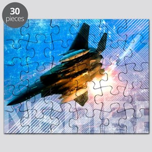 Military Grunge Poster: Inspire. An F-15E E Puzzle