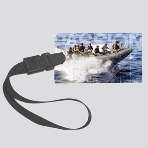 Military Grunge Poster: Members  Large Luggage Tag
