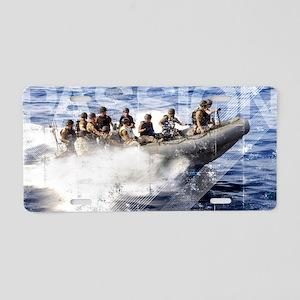 Military Grunge Poster: Mem Aluminum License Plate