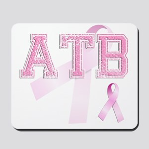 ATB initials, Pink Ribbon, Mousepad