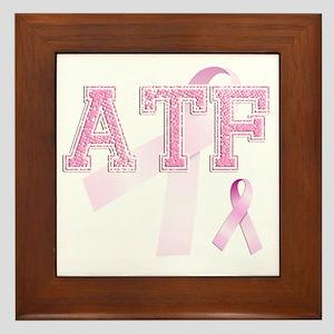ATF initials, Pink Ribbon, Framed Tile