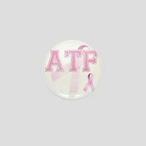 ATF initials, Pink Ribbon, Mini Button