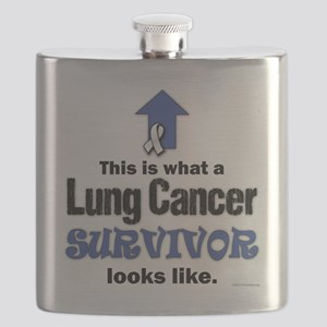 Lung Cancer Survivor (lt) Flask