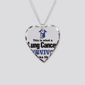 Lung Cancer Survivor (lt) Necklace Heart Charm