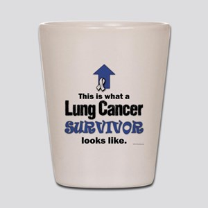 Lung Cancer Survivor (lt) Shot Glass