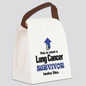 Lung Cancer Survivor (lt) Canvas Lunch Bag