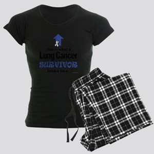 Lung Cancer Survivor (lt) Women's Dark Pajamas