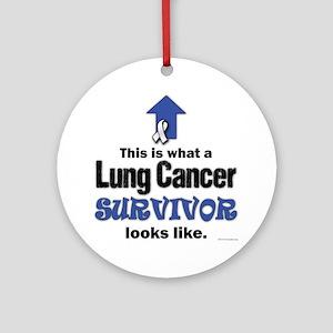 Lung Cancer Survivor (lt) Round Ornament