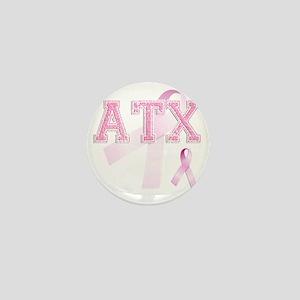 ATX initials, Pink Ribbon, Mini Button
