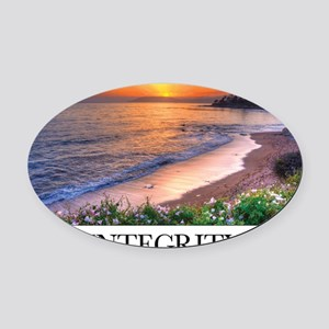 Inspirational Poster: In matters o Oval Car Magnet