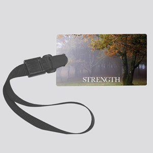 Inspirational Poster: Every grea Large Luggage Tag