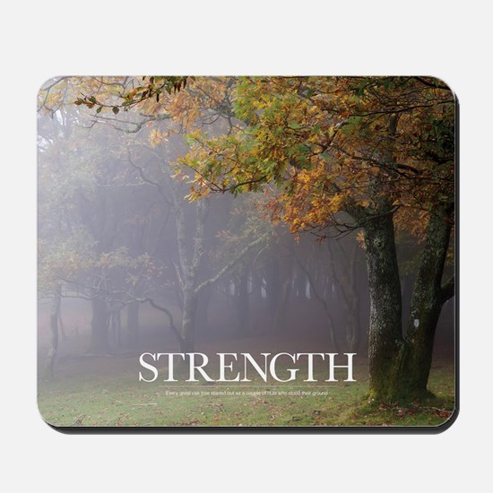 Inspirational Poster: Every great oak tr Mousepad