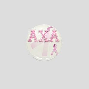 AXA initials, Pink Ribbon, Mini Button