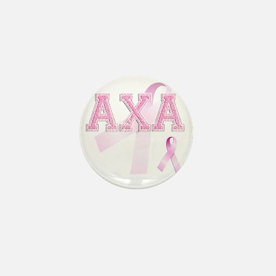 AXA initials, Pink Ribbon, Mini Button