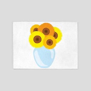 Sunflower Vase 5'x7'Area Rug