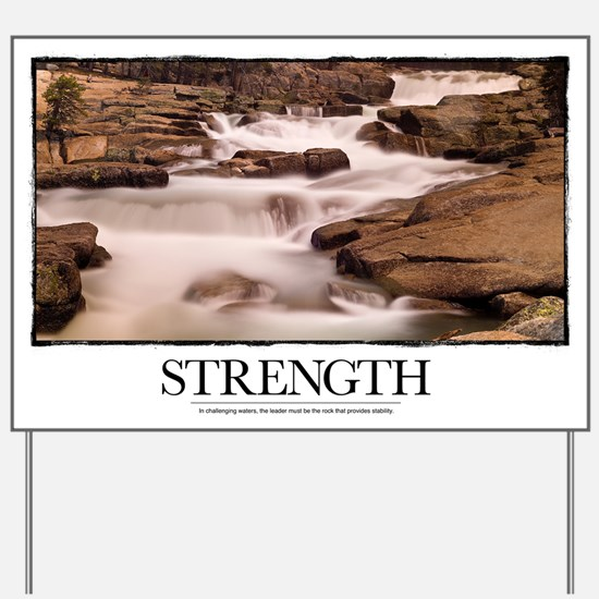Inspirational Motivational Poster: In ch Yard Sign