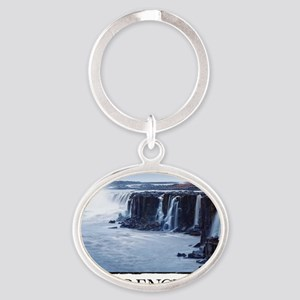 Inspirational Motivational Poster: I Oval Keychain