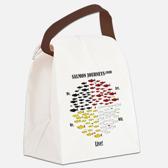 Calling Back the Salmon Canvas Lunch Bag