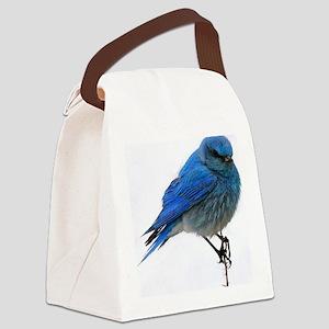 Mountain blue bird Canvas Lunch Bag