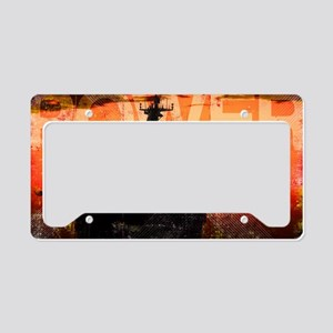 Military Grunge Poster: Power License Plate Holder