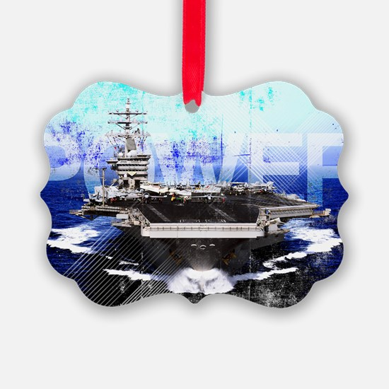 Military Grunge Poster: Power. Th Ornament