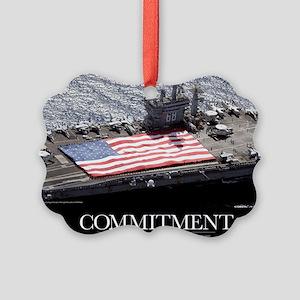 Motivational Poster: USS Nimitz Picture Ornament
