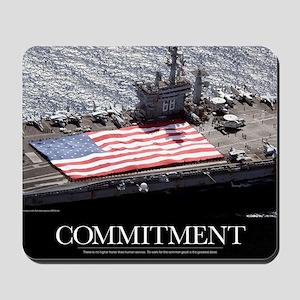 Motivational Poster: USS Nimitz Mousepad