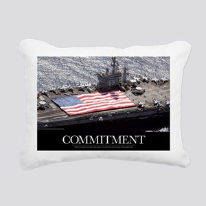 Motivational Poster: USS Rectangular Canvas Pillow