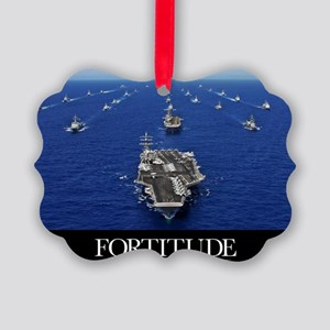 Motivational Poster: USS Ronald R Picture Ornament
