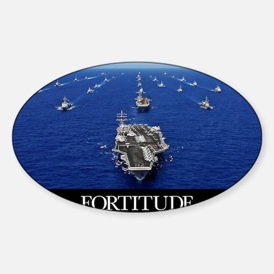 Motivational Poster: USS Ronald Rea Sticker (Oval)