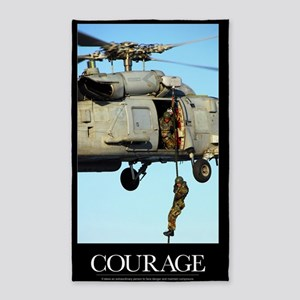 Motivational Poster: Courage 3'x5' Area Rug