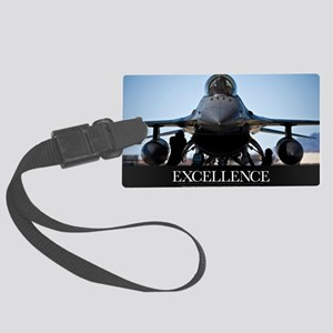 Motivational Poster: Air Force P Large Luggage Tag