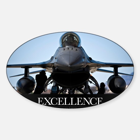 Motivational Poster: Air Force Post Sticker (Oval)